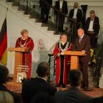"2010 Angela Merkel has been granted a doctor honoris causa title by Ruse University ""Angel Kanchev"""